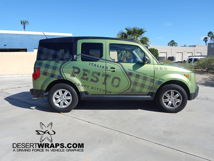 Car wrap designed by Hollis Brand Culture and installed by DesertWraps.com in Palm Desert, CA. Contact us today at 760-935-3600.