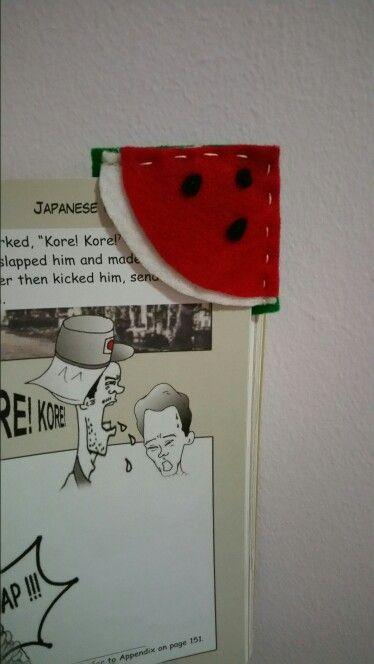 Felt bookmark - watermelon