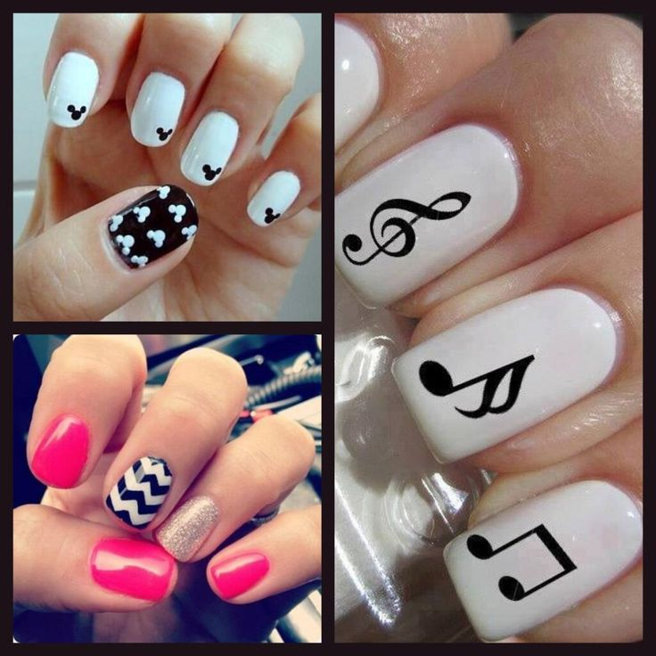 17 best Gel nail art - music images on Pinterest | Music note nails ...