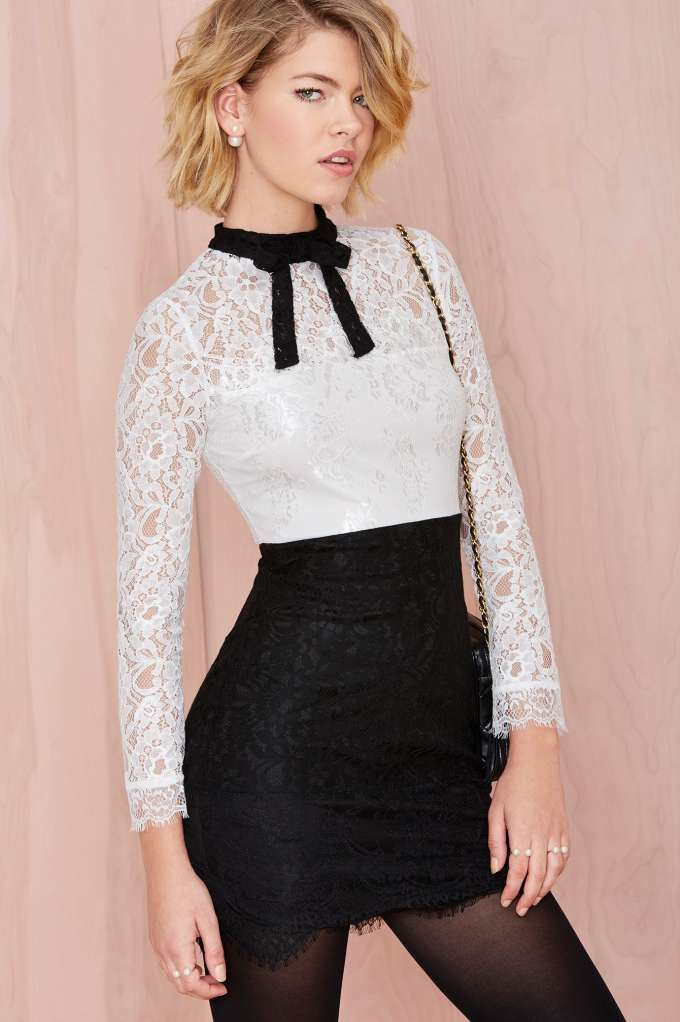 Nasty Gal Tied Up Lace Dress | Shop Sale at Nasty Gal