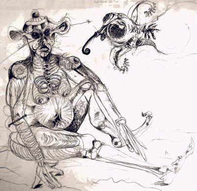 Original Surrealism: Facsimile of a Circus Monkey by RAS