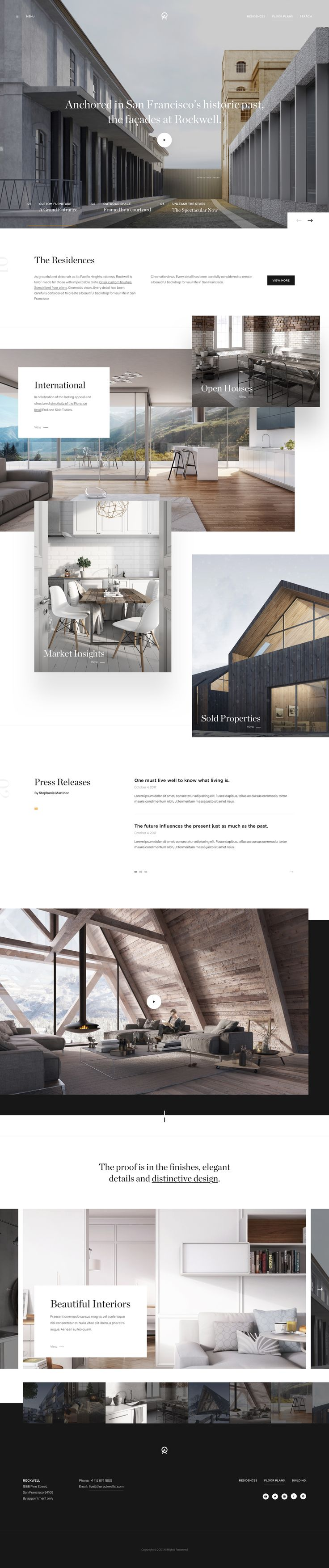 Architecture website design.