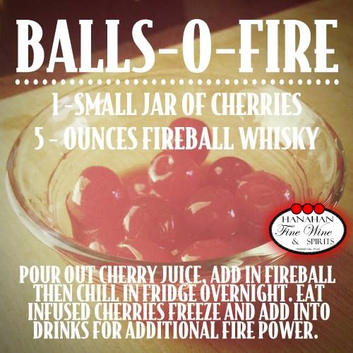Goodness. Gracious. Great.  Balls-o-Fire recipe using Fireball Cinnamon Whiskey