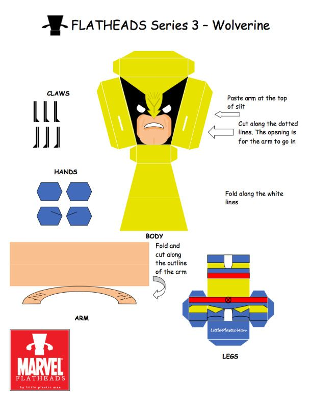 Flat Heads Wolverine Template