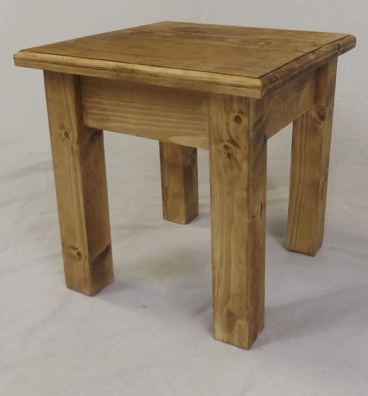 Bespoke Solid Wood Pine Side Table