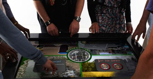 The Eco Choices Game developed by Formula D interactive is a multi-player touch screen game designed to host up to 4 players simultaneously. The game presents players with scenarios and personal choices, revealing how their actions and decisions will impact the environment.