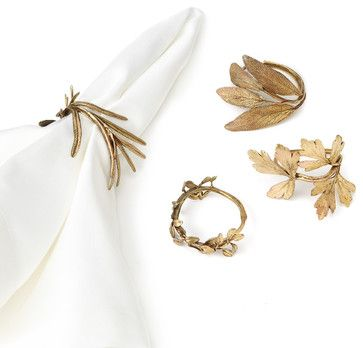 Assorted Herb Napkin Rings - contemporary - Napkin Rings - UncommonGoods