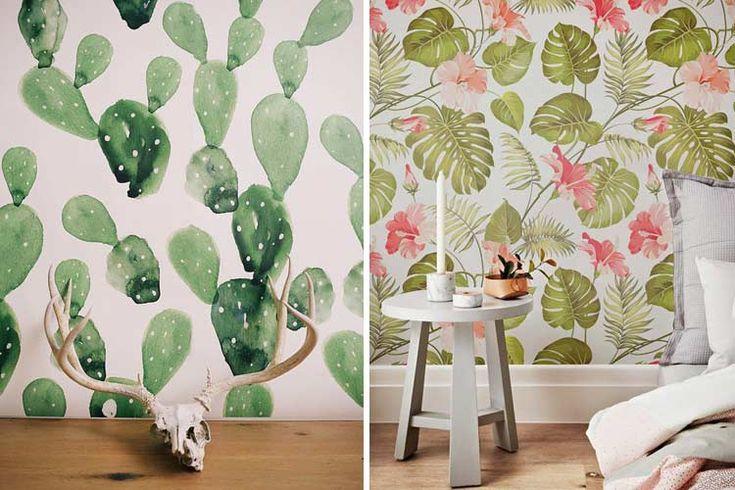 Las 25 mejores ideas sobre estampados tropicales en - Decoracion con papeles pintados ...