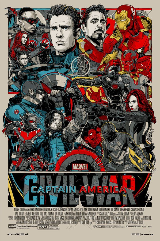 New poster release captain america civil war by tyler stout