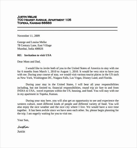 Sample Invitation Letter For Visa For Brother Best Of Visa