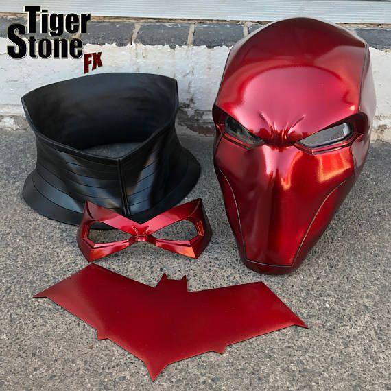 Red Hood helmet bundle in Deep Metallic Red w neck piece
