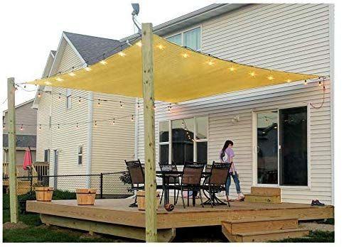 Amazon Com Patio Sun Shade Sail Canopy 8 X 12 Rectangle Shade Cloth Outdoor Cover Uv Block Sunshade Fabri Shade Sails Patio Patio Shade Patio Sun Shades