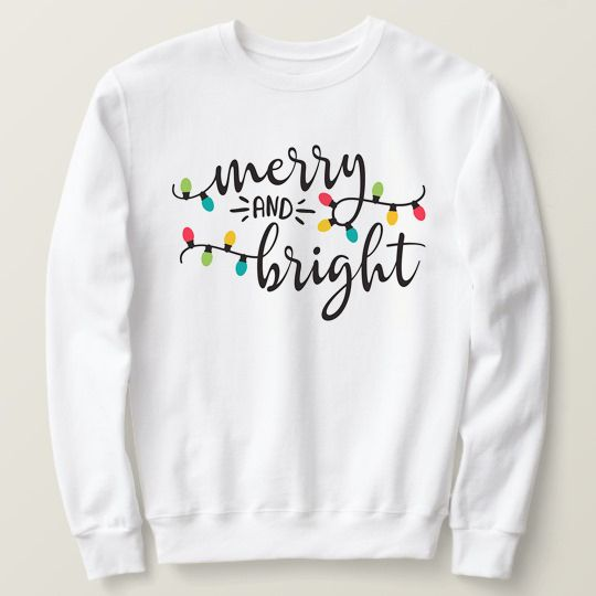Merry And Bright Christmas Custom Shirts