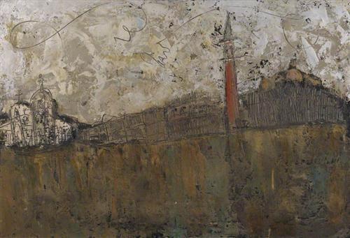 Canal, Venice (Venice from the Giudecca) - William Congdon