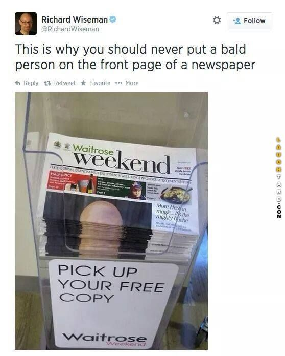 Why you shouldnt put a bald person on the front page