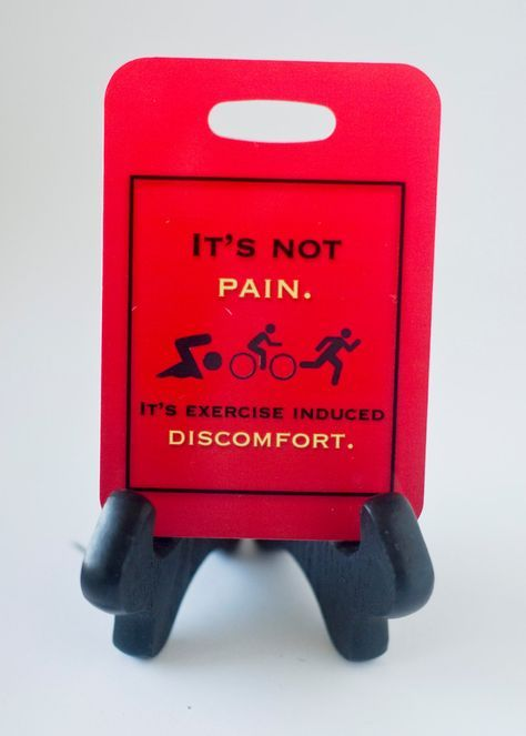 It's Not Pain, It's Exercise Induced Discomfort, Bicycle, Triathlon Bag Tag