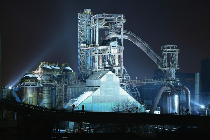 Czech republic,blast furnace in Ostrava - Vítkovice-magical place