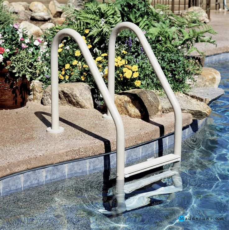 Wonderful Pool Finish Ideas For You To Copy: 1000+ Ideas About Above Ground Pool Ladders On Pinterest
