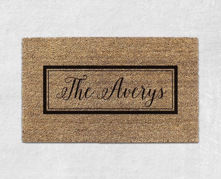 Personalized Door Mat - Personalized Doormat - Custom Doormat - Custom Door Mat - Personalized Welcome Mat - Custom Welcome Mat 007 by WithLoveAndLuxe on Etsy https://www.etsy.com/listing/481441418/personalized-door-mat-personalized