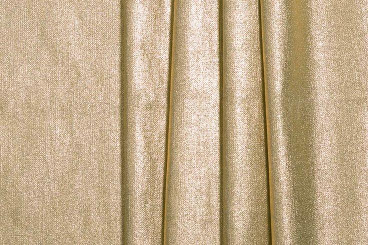 Britex Fabrics Brilliant Metallic Gold Stretch Linen