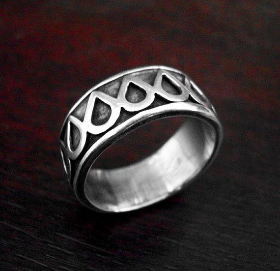Mens silver ringsilver mens bandmens wedding bandunique