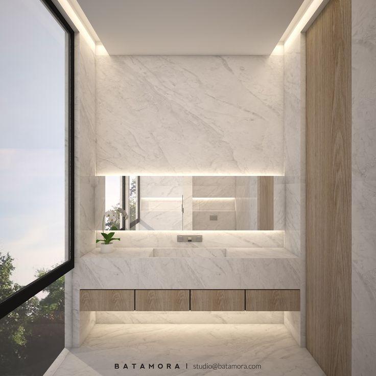 Desain kamar mandi dengan dinding keramik | Portofolio By : Batamora (Interior Designer di Sejasa.com)