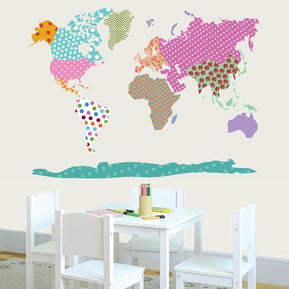 Best  World Map Wall Decal Ideas On Pinterest Vinyl Wall - Vinyl wall decals application instructions