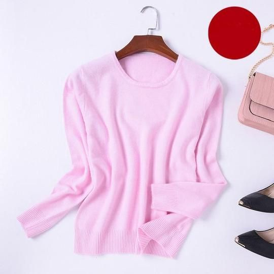 2018 Winter Cashmere sweater women plus size sweater knit top sweater winteruotelab 1
