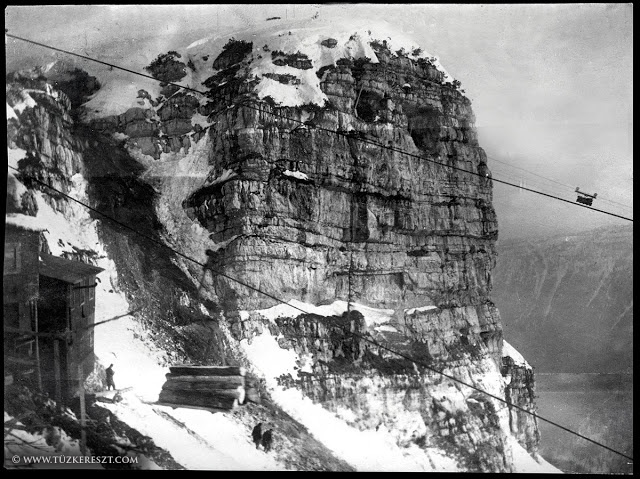 Austro-Hungarian mountain-top fortification in the Dolomites 1917.