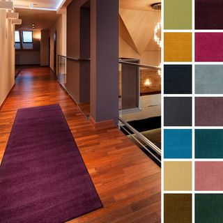Hand-loomed Casual Seiler Wool Runner Rug (2'6 x 8') - Overstock™ Shopping - Great Deals on Runner Rugs