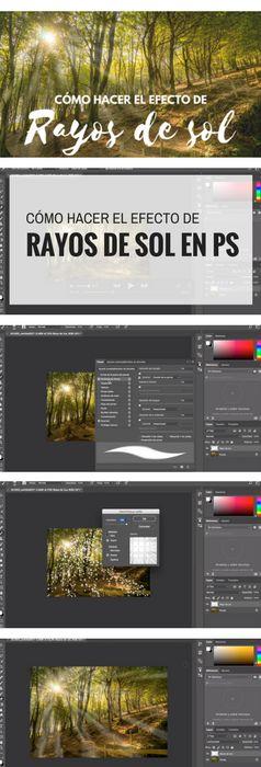 Cómo crear el efecto de rayos de sol en Photoshop. Tutorial paso a paso más vídeo. Y puedes descargarte el archivo para practicar. #tutorial #Photoshop #PS #efecto #rayos #sol #luz #videotutorial #tips #fotografia
