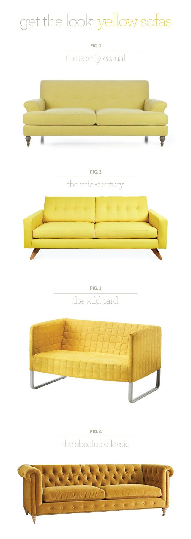 Sofa removable free spirited and flexible d 233 sir 233 e - Get The Look Yellow Sofas