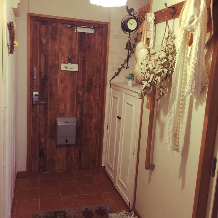 団地の玄関/下駄箱DIY/板壁DIY!/団地/手作り/狭い…などのインテリア実例 - 2015-04-28 12:34:04 | RoomClip(ルームクリップ)