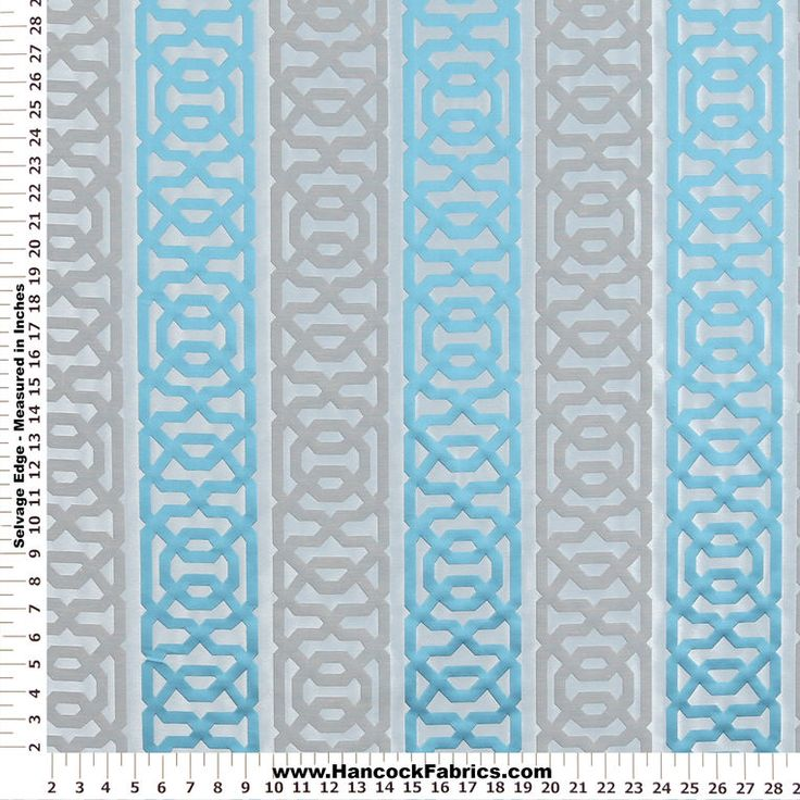 Mesaline Fret Teal Home Décor Fabric