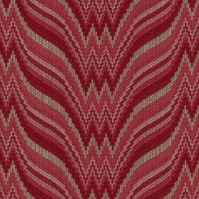 Agni Bargello in Berry/Rose from Brunschwig & Fils #fabric #texture #red