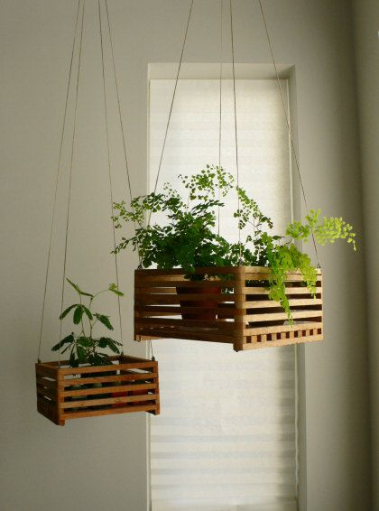 2 Hanging Planters by nikkomoy on Etsy