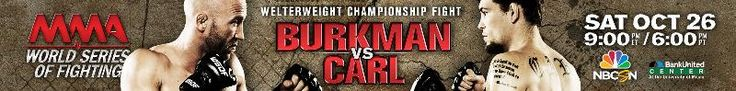 Marcelo Alfaya vs. Jon Fitch completes four-fight #WSOF 6 fight card on October 26 #MMA
