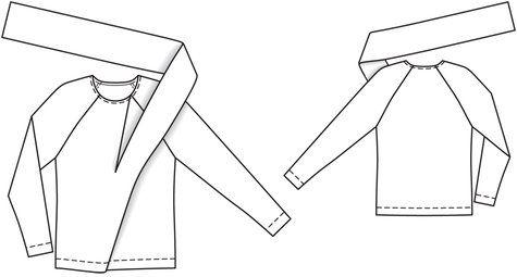 Burda sweatshirt with tie/scarf