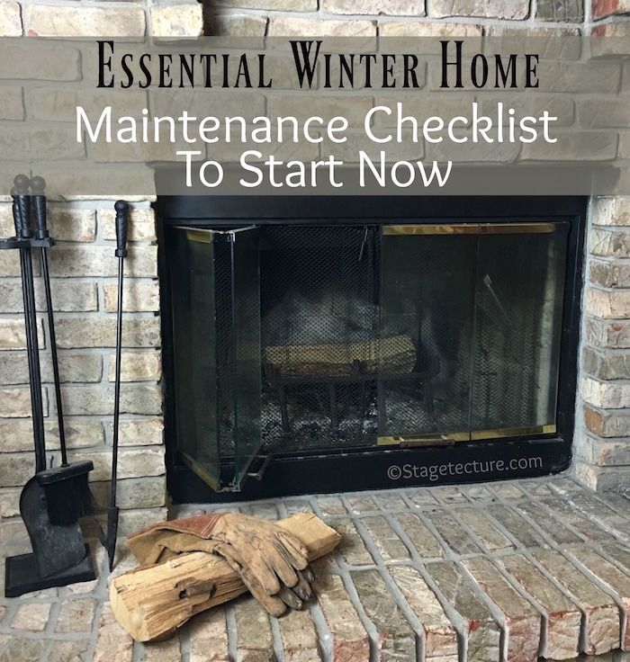 Happy First Day of Winter! Essential Winter Home Maintenance Checklist Items to Start Now. #AD http://stagetecture.com/winter-home-maintenance-checklist/ @AHS_Warranty #AHS