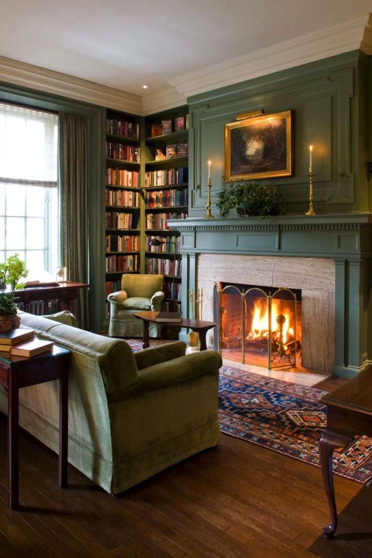 Upper middle class living room - 11 Cozy Photos Of Fireplaces That Will Make You Want To Stay Inside All Winter
