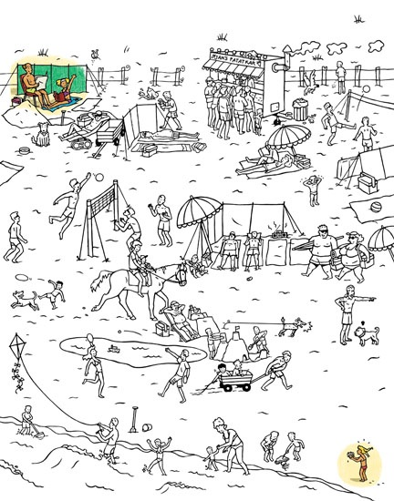 Lost At The Beach Coloring And Talking Page