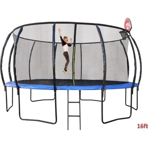 16ft Round Trampoline with Ladder & Basketball Hoop | Buy 16ft Trampoline