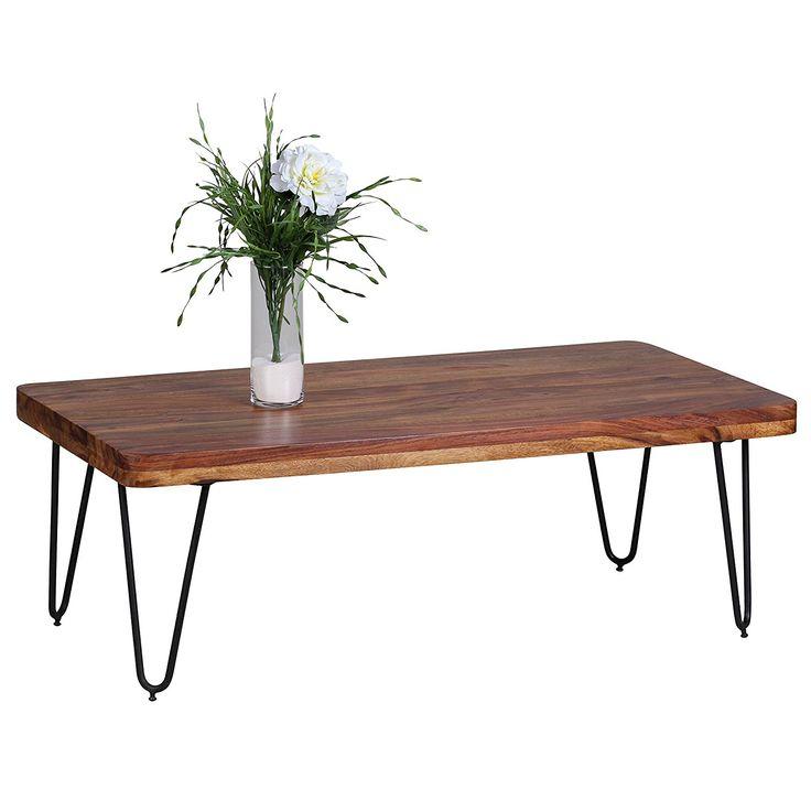 Wohnling WL1.511 Massivholz Sheesham Couchtisch 115 x 60 x 40 cm: Amazon.de: Küche & Haushalt