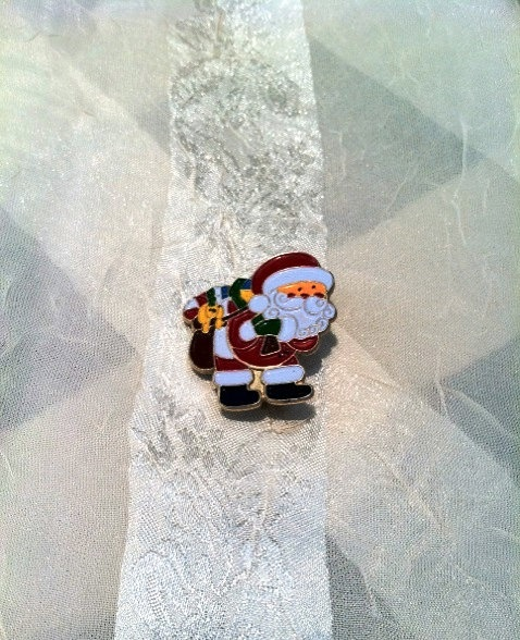 Classic Vintage Retro Santa Claus Pin Estate by NorthCoastCottage, $7.00