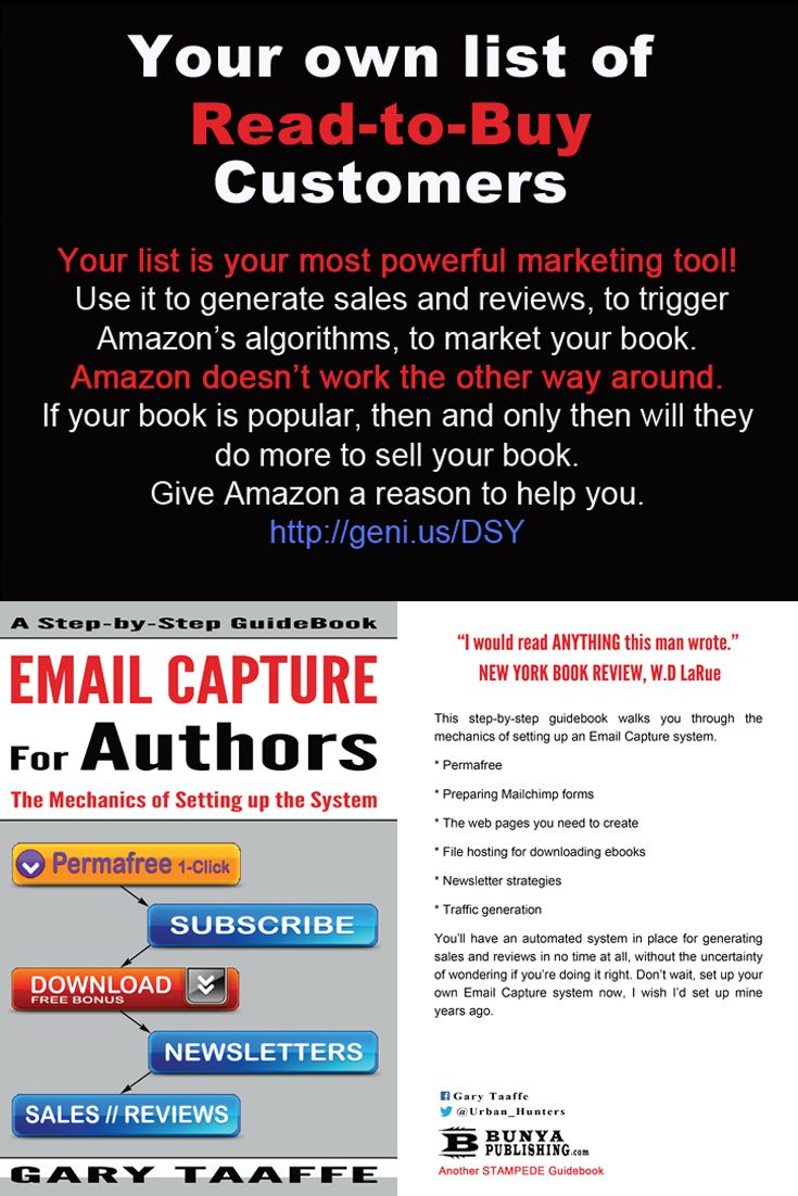 A how to guide. http://www.amazon.com/dp/B00UNFW3EI http://bunyapublishing.com/ https://www.pinterest.com/garytaaffe/