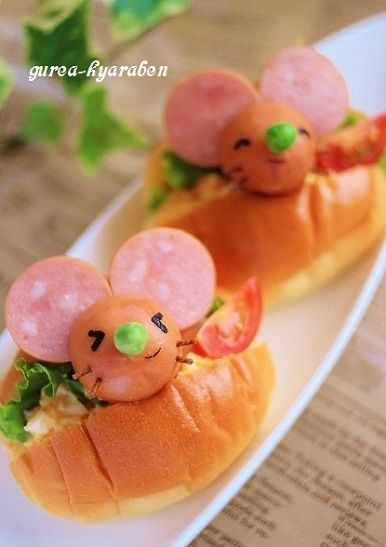 egg salad rolls with cocktail sausages