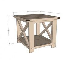 I want to make this! DIY Furniture Plan from Ana-White.com Build a Rustic X End Table from 2x4s and lumber! Free easy step by step plans from ana-white.com