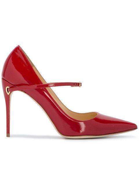 7799f004f5 Shop Jennifer Chamandi Red Patent Lorenzo 105 Heels. | Modas | Shoes ...