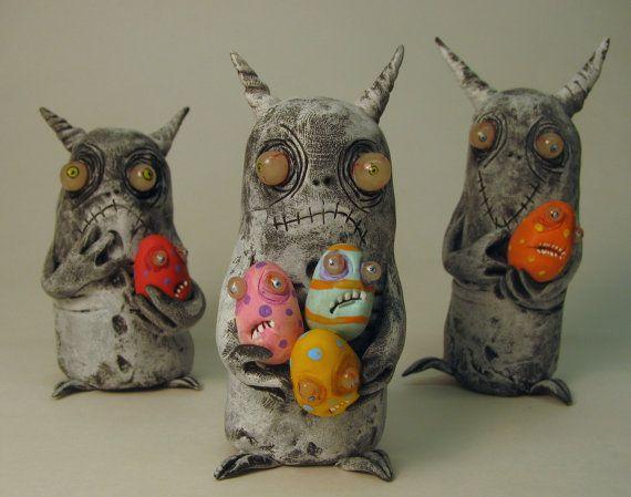 infestation  monster ooak art doll sculpture by mealymonster, $25.00