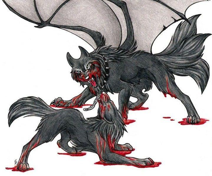 Картинки про волков злых с крыльями